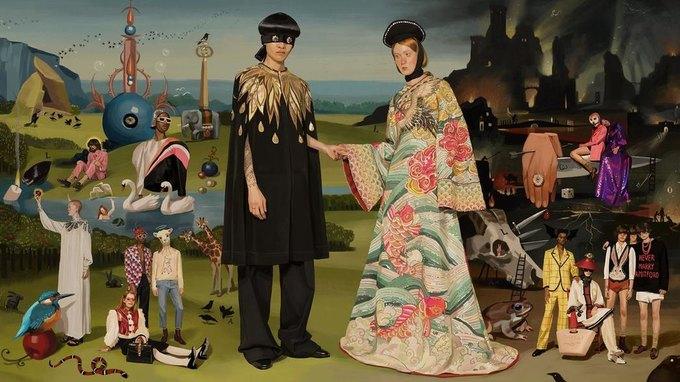 Новую кампанию Gucci нарисовал художник. Изображение № 1.