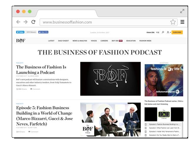В закладки: Подкаст о моде Business of Fashion. Изображение № 1.