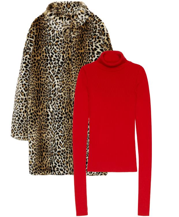 Комбо: Леопардовая шуба с трикотажным свитером. Изображение № 2.