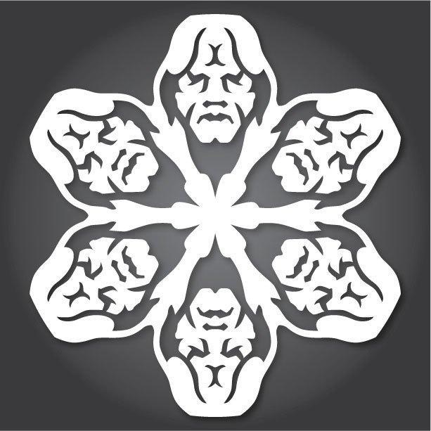 Снежинки с героями «Звездных войн» можно скачать и распечатать. Изображение № 11.