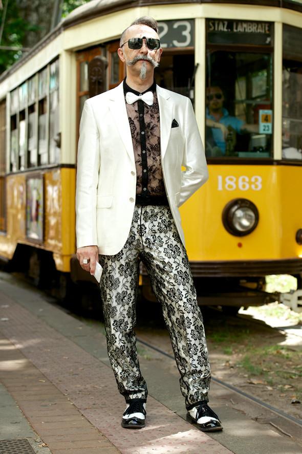 Стрит-стайл: Неделя мужской моды в Милане. Изображение № 2.