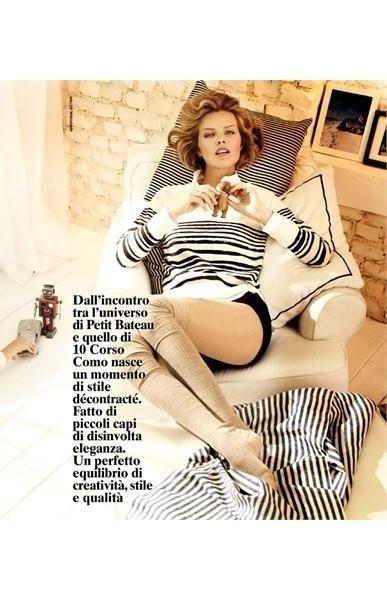 Ева Герцигова а съёмке итальянского Vogue, сентябрь 2011. Изображение № 28.