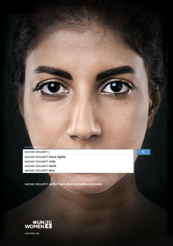 Сексистские запросы в Google стали основой социальной рекламы. Изображение № 2.