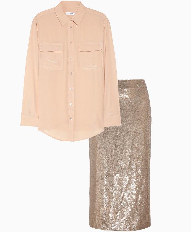 Комбо: Юбка в пайетках с рубашкой. Изображение № 3.