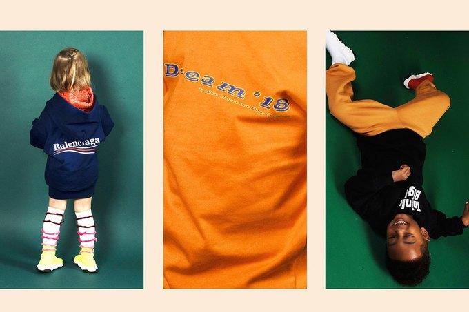 Balenciaga показали яркую детскую коллекцию. Изображение № 4.