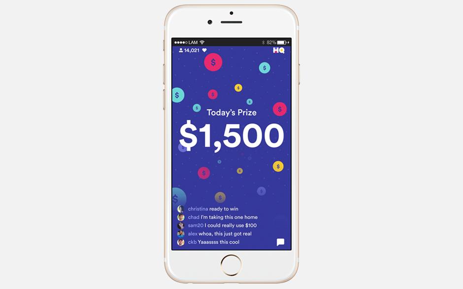Мобильный онлайн-квиз HQ — на деньги. Изображение № 1.