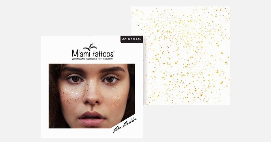 Золотые веснушки Miami Tattoos для летнего макияжа. Изображение № 1.