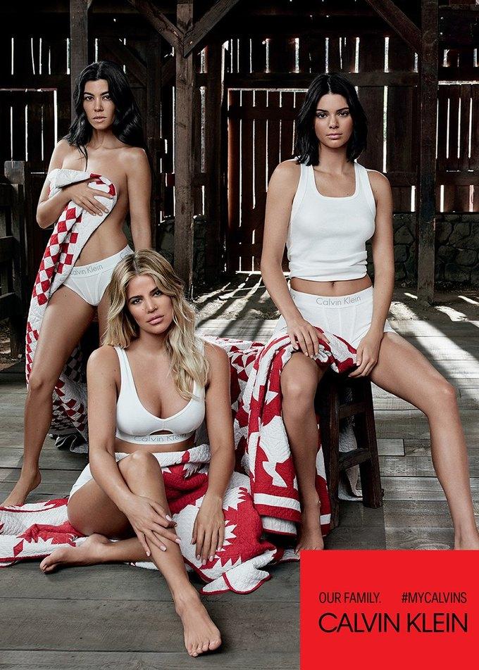Сёстры Кардашьян-Дженнер снялись для кампании Calvin Klein. Изображение № 3.
