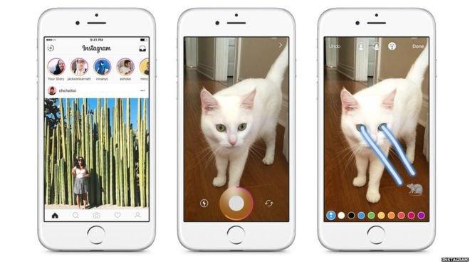 Instagram запустили функцию «Истории», напоминающую Snapchat . Изображение № 1.