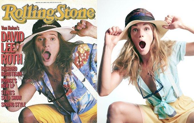Дэвид Ли Рот, выпуск Rolling Stone от 11 апреля 1985 года. Изображение № 1.