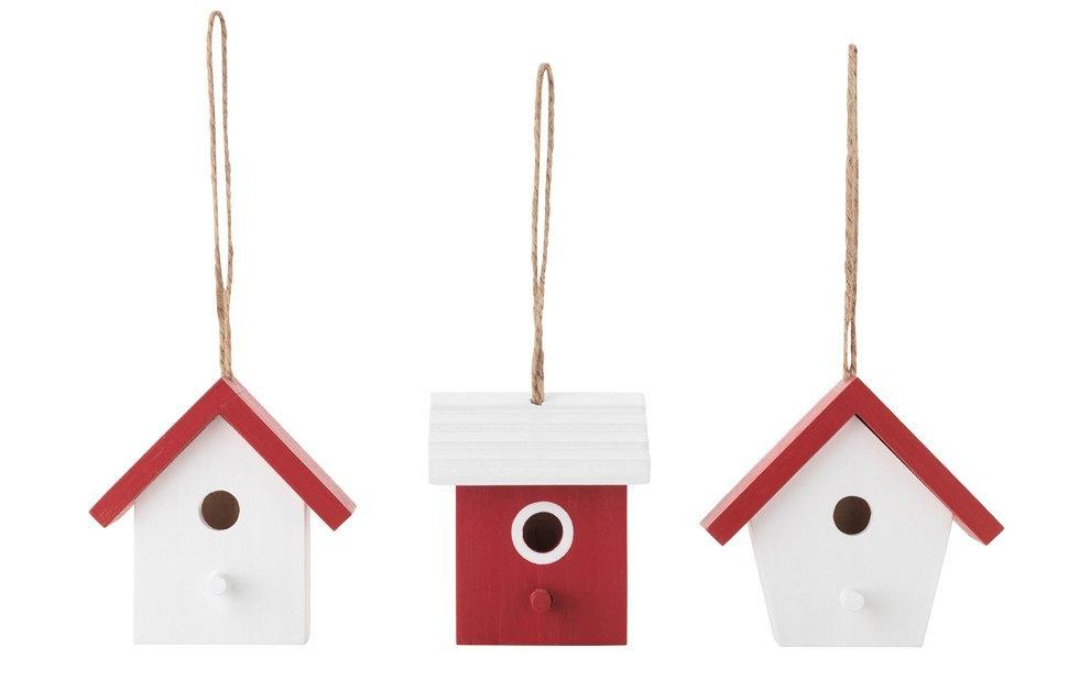 Елочные игрушки IKEA:  Квартет снегирей  и домики для них. Изображение № 2.