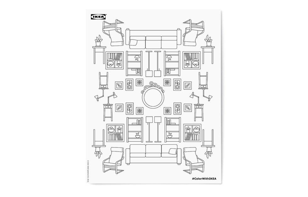 Раскраска для тех, кто очень любит IKEA. Изображение № 4.
