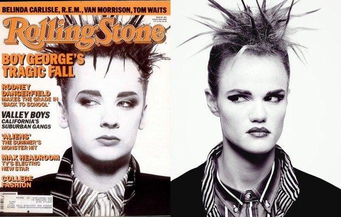 Бой Джордж, выпуск Rolling Stone от 28 августа 1986 года. Изображение № 2.