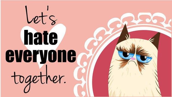Grumpy Cat стала героиней угрюмых валентинок. Изображение № 2.