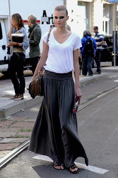 Milan Fashion Week: Уличный стиль, день 1. Изображение № 9.