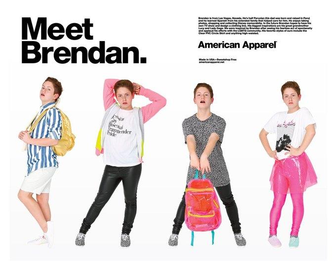 Лицом новой кампании American Apparel стал подросток-звезда YouTube. Изображение № 1.