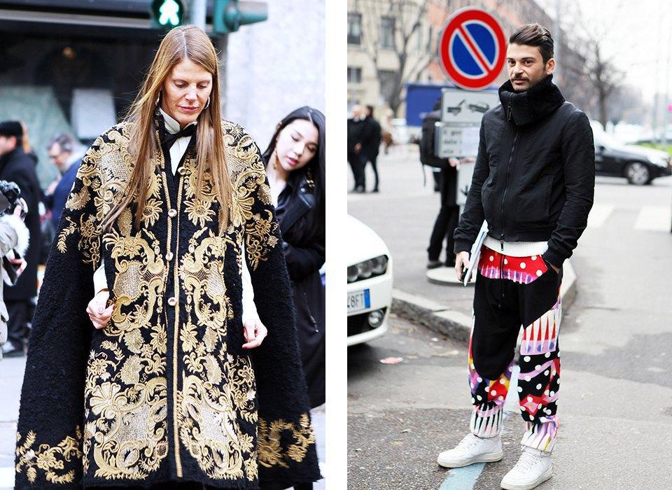 Анна Делло-Руссо, Элеонора Каризи и другие гости Миланской недели моды. Изображение № 17.