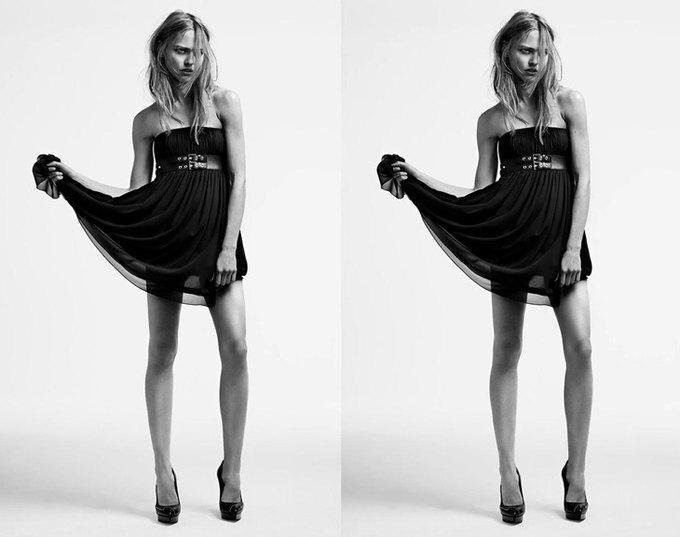 Саша Пивоварова снялась для кампании Saint Laurent. Изображение № 3.