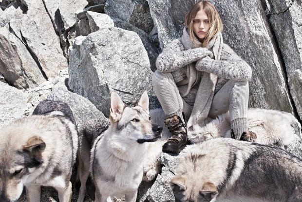 Новый лукбук Mango: Саша Пивоварова, Монблан и волки. Изображение № 8.
