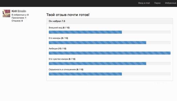 Стартап ThatGuy.ru дает оценить всех мужчин «ВКонтакте». Изображение № 4.