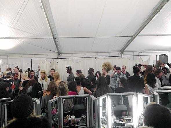 London Fashion Week: Репортаж с бэкстейджей House of Holland и Vivienne Westwood. Изображение № 16.