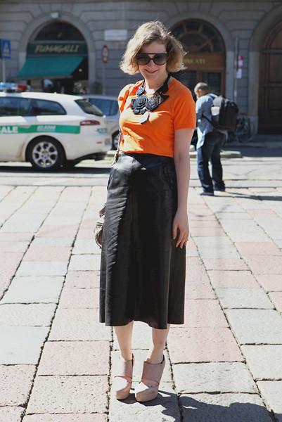 Milan Fashion Week: Уличный стиль, день 1. Изображение № 2.