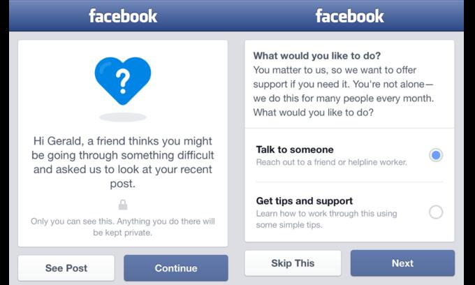 Facebook будет помогать предотвращать самоубийства. Изображение № 1.