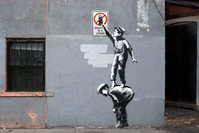 На улицах Нью-Йорка нашли новую работу Бэнкси. Изображение № 1.