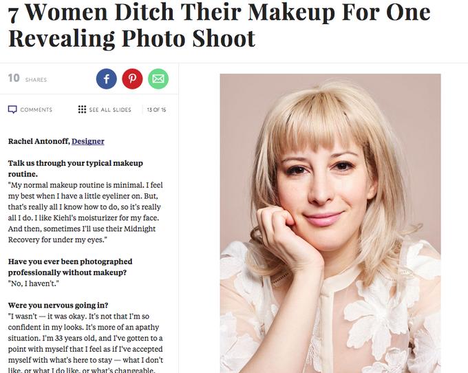Семь известных женщин снялись с макияжем и без. Изображение № 5.