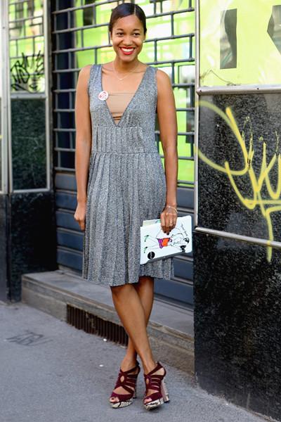 Milan Fashion Week: Уличный стиль, день 2. Изображение № 11.
