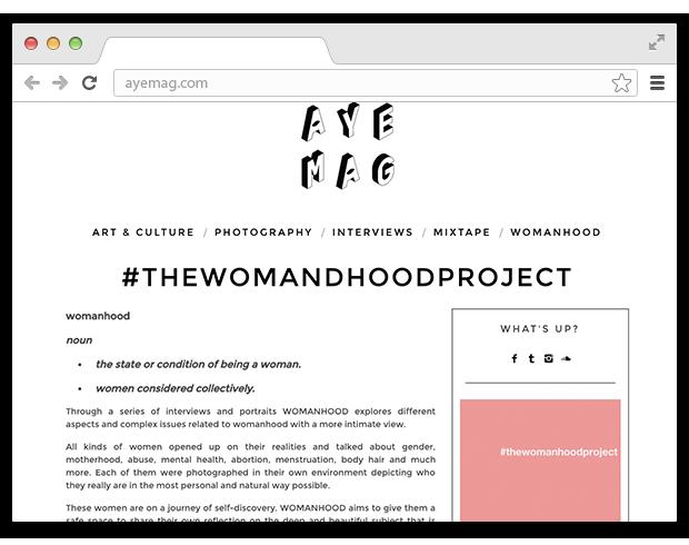 В закладки: Проект о женственности The Womanhood. Изображение № 1.