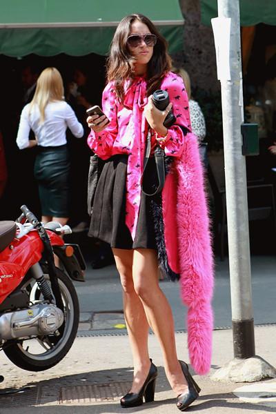 Milan Fashion Week: Уличный стиль, день 5. Изображение № 10.
