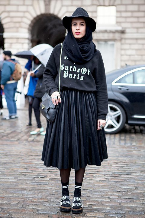 Стритстайл:  Что носят гости London Fashion Week. Изображение № 11.