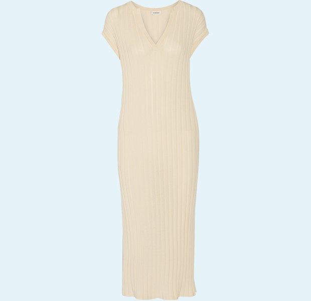 Трикотажные платья в рубчик: От простых до роскошных. Изображение № 5.