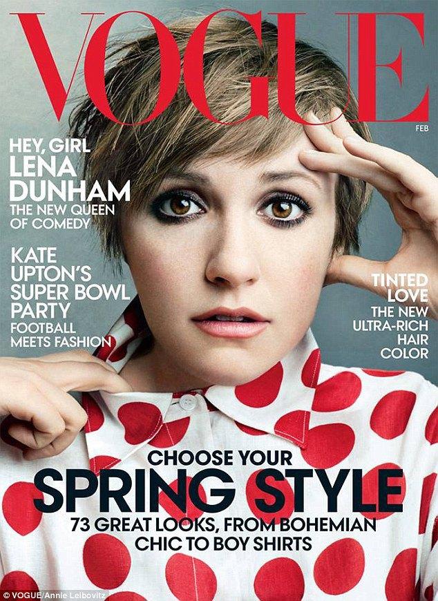 Лена Данэм на обложке Vogue. Изображение № 1.