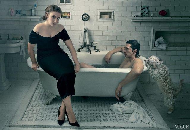 Лена Данэм на обложке Vogue. Изображение № 4.