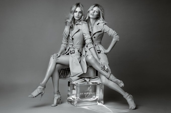 Кейт Мосс и Кара Делевинь — лица нового аромата Burberry. Изображение № 1.