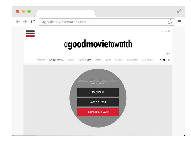 В закладки: Сайт-помощник для выбора хорошего неочевидного кино. Изображение № 1.