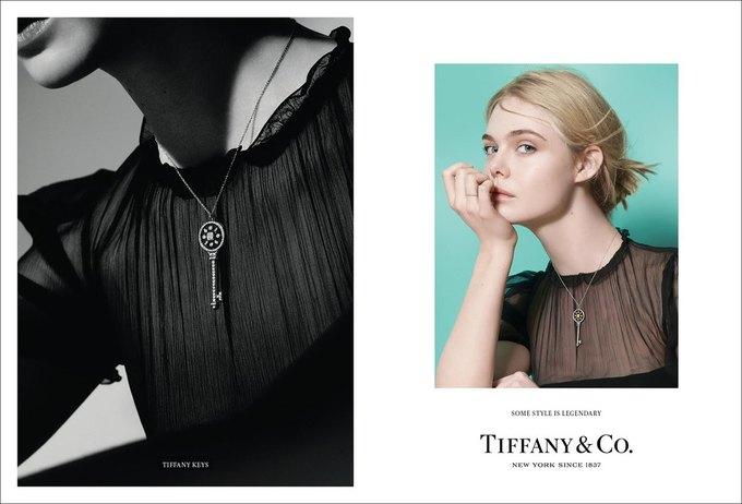 Люпита Нионго и Эль Фаннинг снялись в рекламе Tiffany & Co.. Изображение № 2.