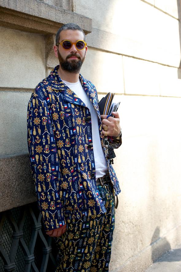 Стрит-стайл: Неделя мужской моды в Милане. Изображение № 22.
