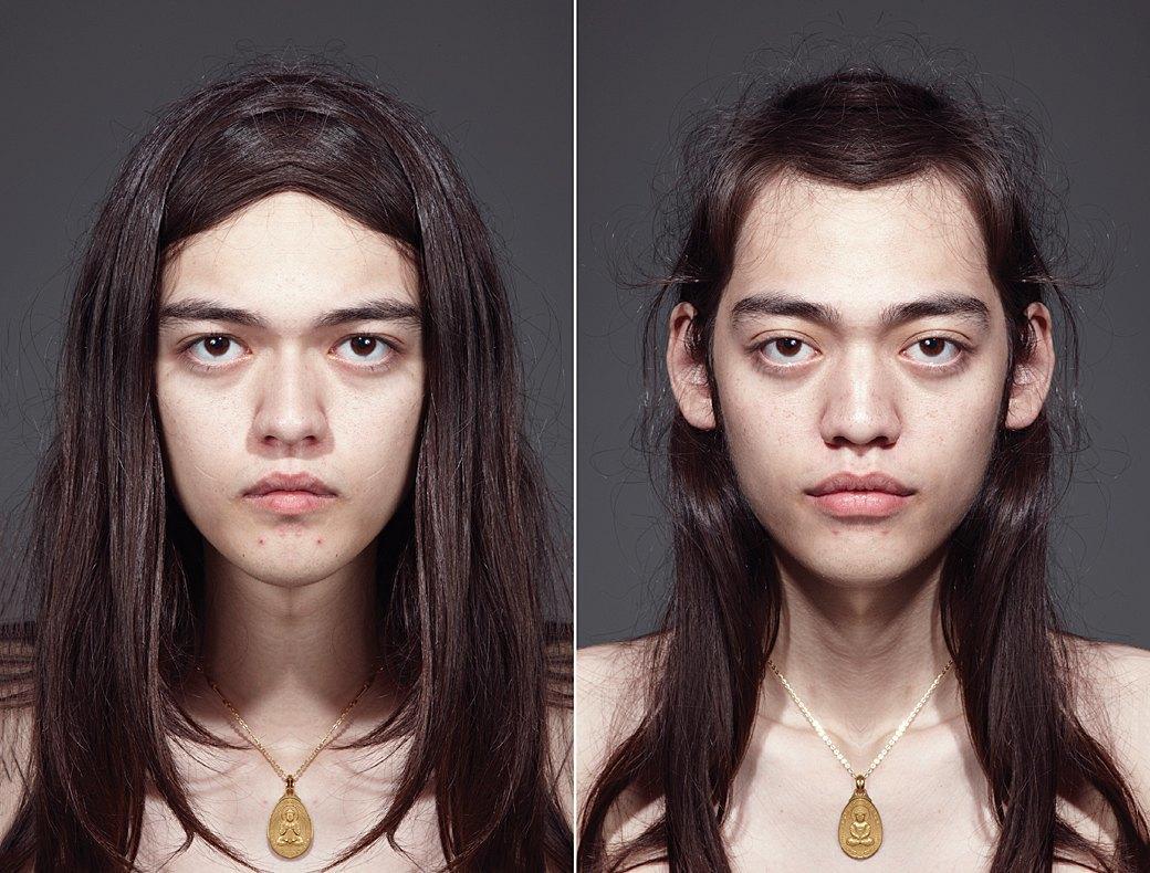 «Симметричные портреты»:  Два человека в одном. Изображение № 7.