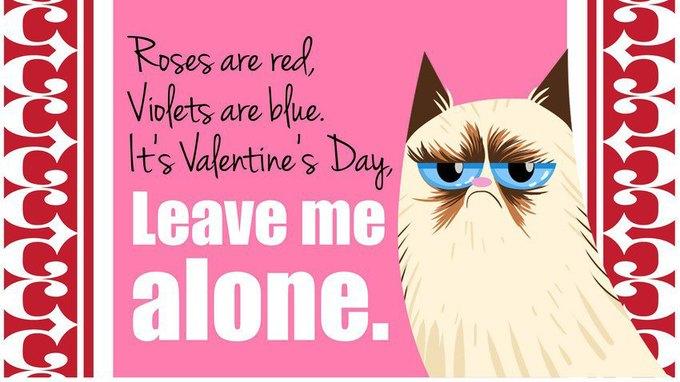 Grumpy Cat стала героиней угрюмых валентинок. Изображение № 3.