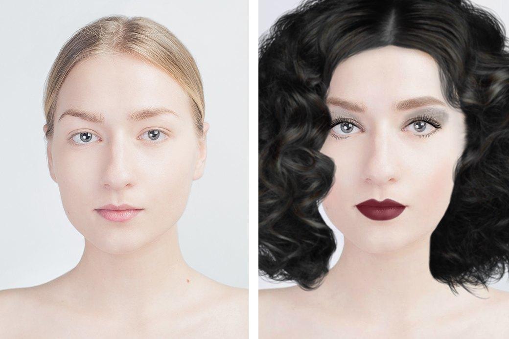 До и после макияжа:  Редакция тестирует  бьюти-приложения. Изображение № 13.