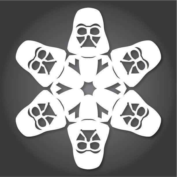 Снежинки с героями «Звездных войн» можно скачать и распечатать. Изображение № 12.