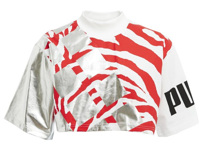 Красный с черным и графические принты в коллекции Puma для Asos. Изображение № 1.