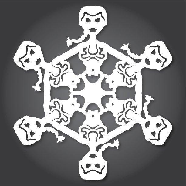 Снежинки с героями «Звездных войн» можно скачать и распечатать. Изображение № 6.