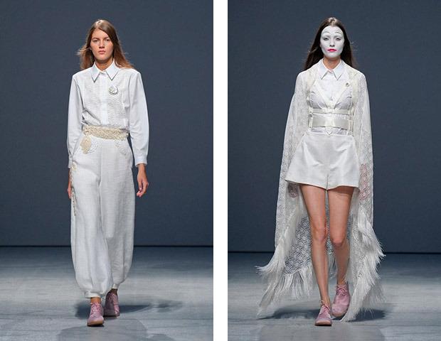Неделя моды в Париже: показы Veronique Branquinho, Cedric Charlier, Anthony Vaccarello и Aganovich. Изображение № 34.