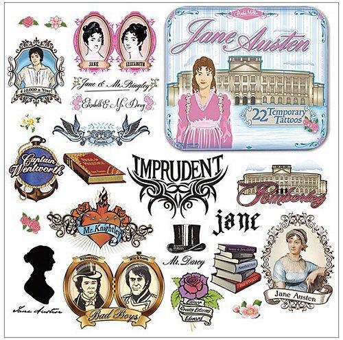 Появились переводные татуировки по мотивам романов Джейн Остин. Изображение № 1.