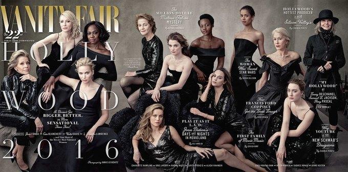 Дайан Китон сама выбрала наряд для «голливудской» обложки Vanity Fair. Изображение № 1.