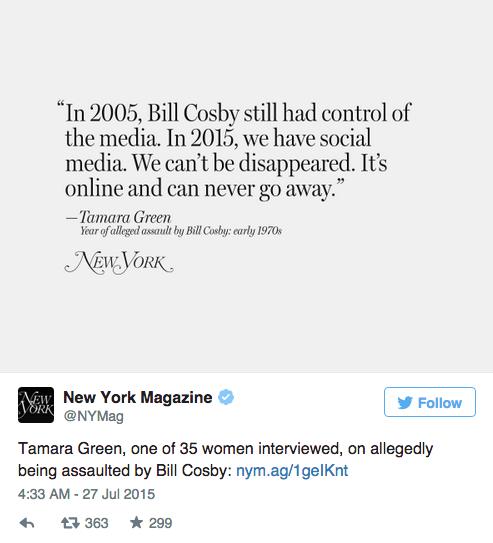35 женщин, обвинивших Билла Косби в насилии,  на обложке NYMag. Изображение № 2.